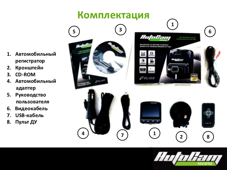 Bliss autocam nv310 инструкция